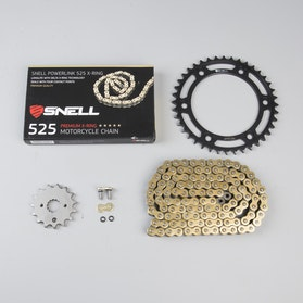 Snell & Snell Powerlink 525 X-Ring Chain & Sprocket Set