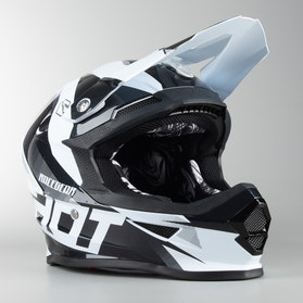 Shot MX Helmet Black-White