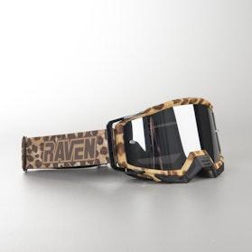 Gogle Cross Raven Sniper Cheetah Czarne Lustrzane