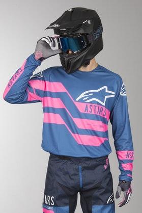 Bluza Cross Alpinestars Racer Flagship Morsko-Różowa
