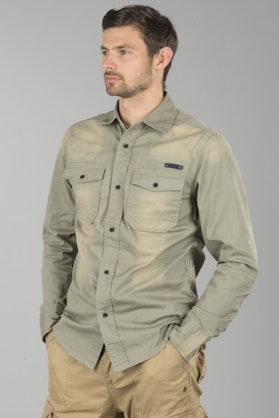 Brandit Denimshirt Hardee - Grey