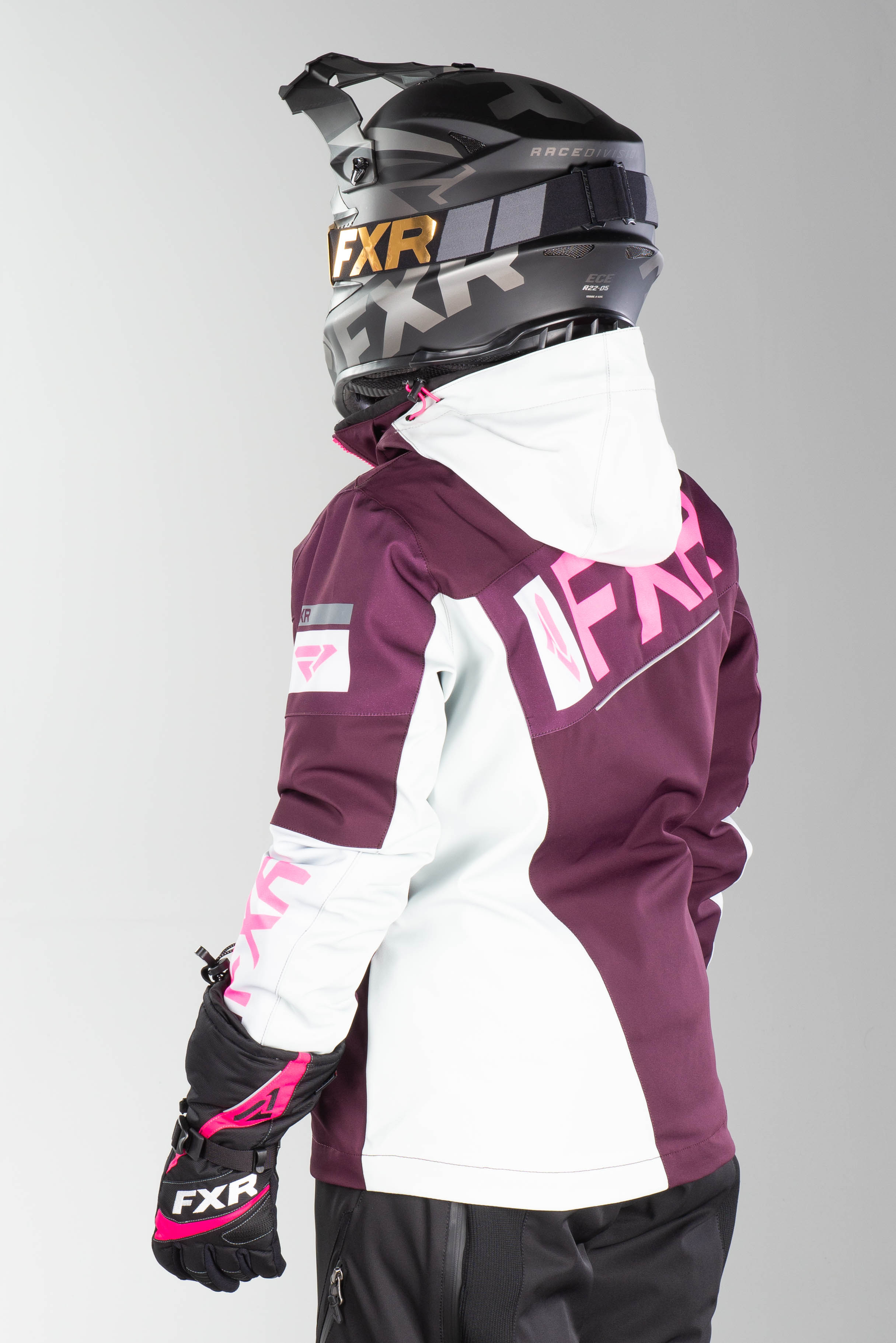FXR Ranger Jacka Dam Lila Rosa HiVis