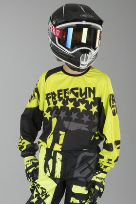Motokrosová Mikina Dětský Model Freegun Nerve Neonová Žlutá
