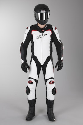 Alpinestars GP Pro Airbag Leathers Black-White-Red