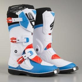 Buty Sidi Flame Biało-Niebiesko-Czerwono Fluorescencyjne