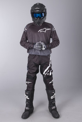 MX Oblečení Alpinestars Racer Graphite Černé-Antracitové