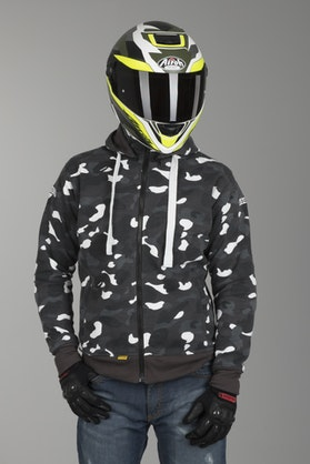 Booster Core Aramid Hoodie Black & White