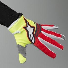 Alpinestars Youth Radar Flight Gloves Fluorescent Yellow-Red-Anthracite