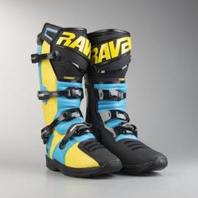 Crossové Boty Raven Combat Modrá-Žlutá-Černá