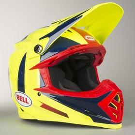 Crossová Helma Bell Moto-9 Flex Vice Modrá-Žlutá