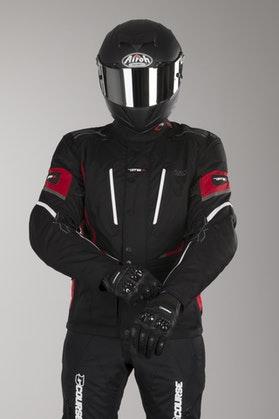 IXS Powell Jacket Black-Red-White