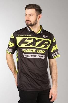 FXR Race Division Tech Polo shirt Black-HiVis