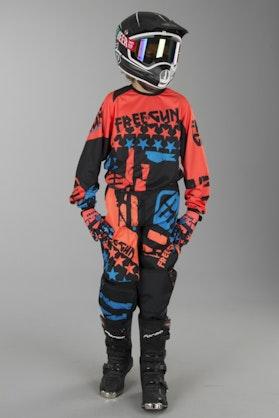 Freegun Nerve Youth MX Clothing Kit Neon Orange-Blue