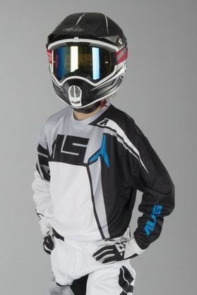 Alias A2 Burst Children's MX Jersey Black-White
