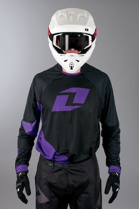 One Industries Gamma Jersey Solid Black-Purple