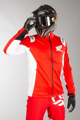 Jakke Alpinestars Honda Softshell, Rød/Hvid