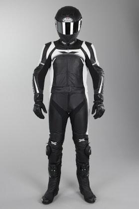 Kožená Kombinéza IXS Camaro Dvojdílná Černo-Bílo-Stříbrná