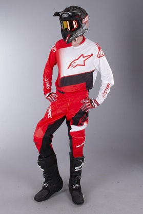 MX Souprava Alpinestars Racer Supermatic Červená-Černá-Bílá