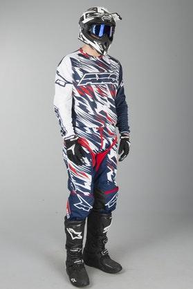 AXO Grunge MX Kit White & Blue