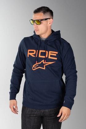Bluza z Kapturem Alpinestars Ride 2.0 Granatowo-Pomarańczowa