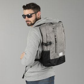 100% Transit Backpack Heather Grey