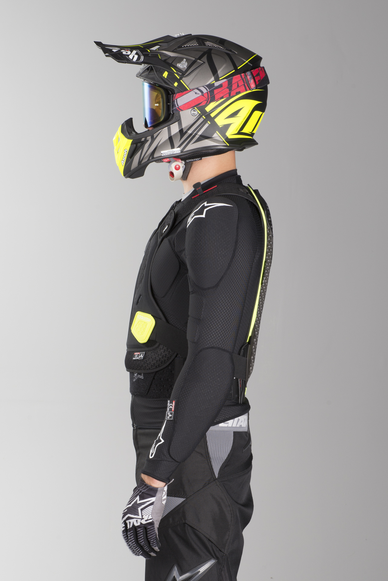 X-Small//Medium//Black//White Alpinestars Pro Bionic Neck Support