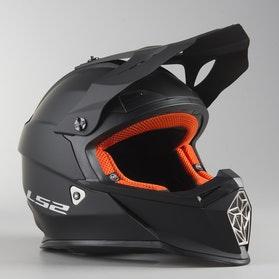 LS2 MX437 Fast MX Helmet Matte Black