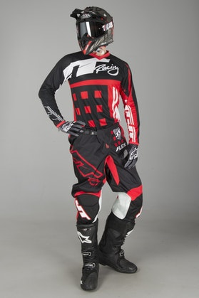 JT Racing Flex MX Clothing Kit Exbox Black-Red