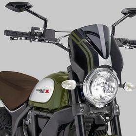 Owiewka Puig Retrovision Ducati Czarna-Ciemna Przydymiona
