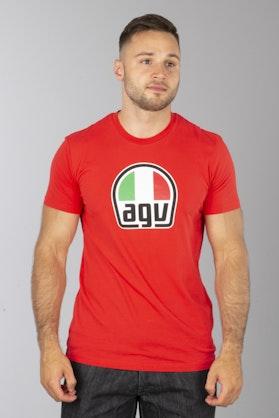 T-Shirt AGV Czerwony