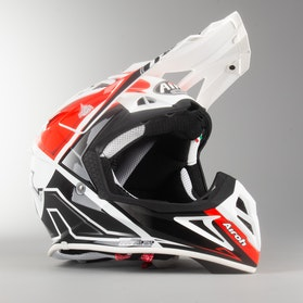Airoh Aviator 2.2 Check Cross-Helmet Red Gloss
