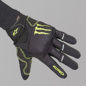 Rukavice Alpinestars Monster Raid Černo-Zelené