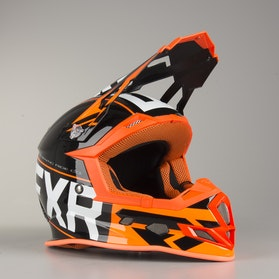 Kask Cross FXR Boost Clutch Czarno-Pomarańczowy