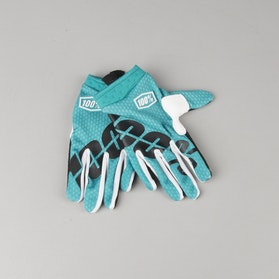 100% Youth iTrack Gloves Teal