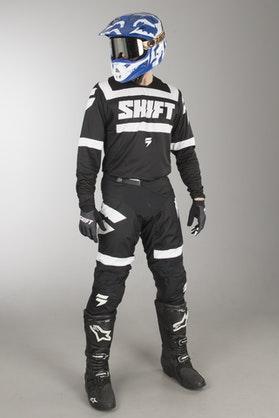 Shift 3Lack Strike MX Clothes Black-White