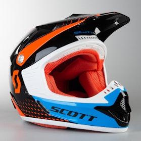 Kask Cross Scott 350 Pro ECE Kids Pomarańczowy Niebieski