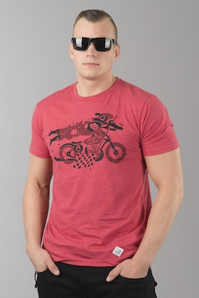Ride&Sons Daredevil Heather T-Shirt Red