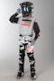 Komplet Cross Alpinestars Racer Tactical Dziecięcy Czarno-Szaro-Fluorescencyjno Czerwony