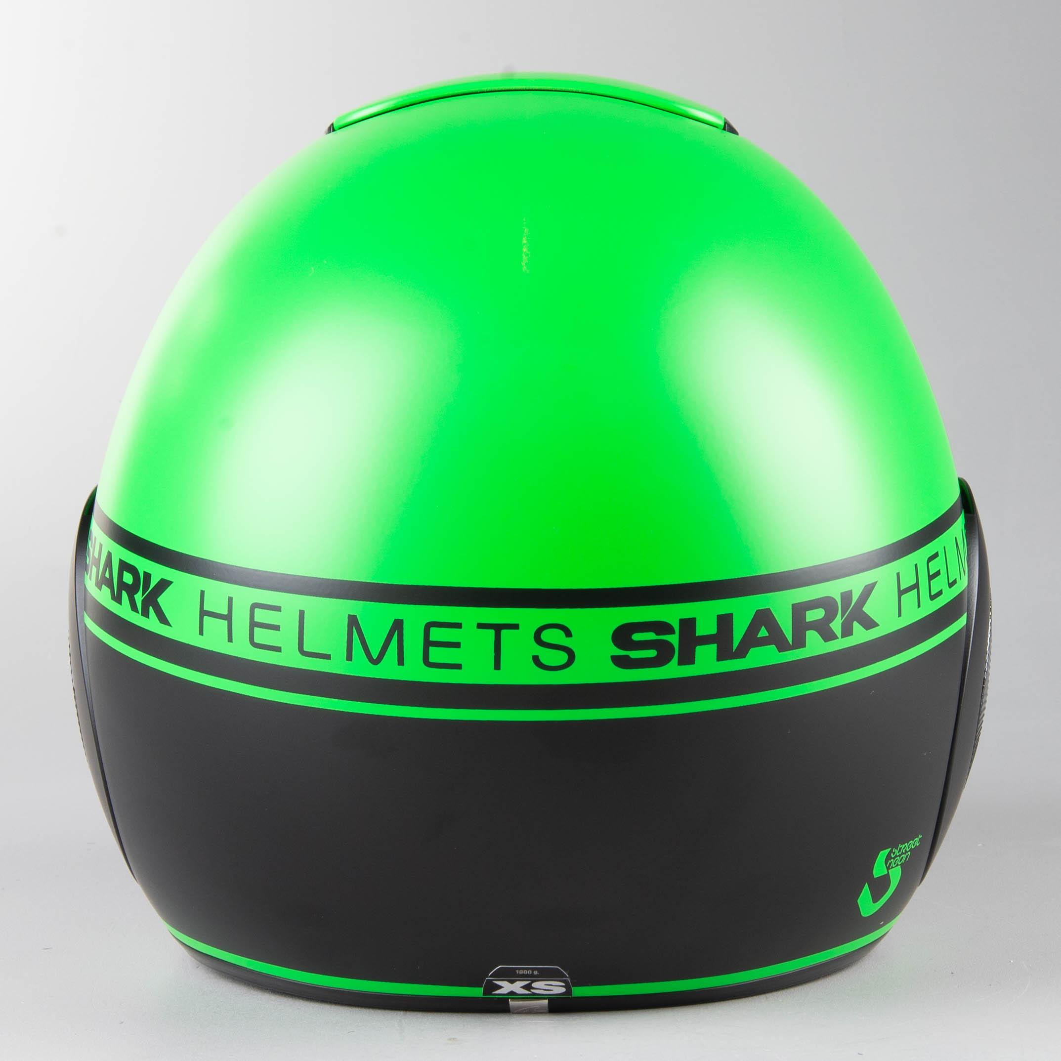 Pilothjelm Shark Street Drak Neon, Matgrøn