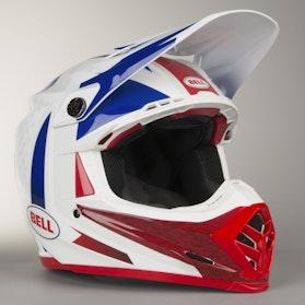 Crossová Helma Bell Moto-9 Flex Vice Modrá-Červená