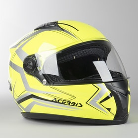 Acerbis Full Face Fs-807 Integral Helmet Fluo Yellow-Grey