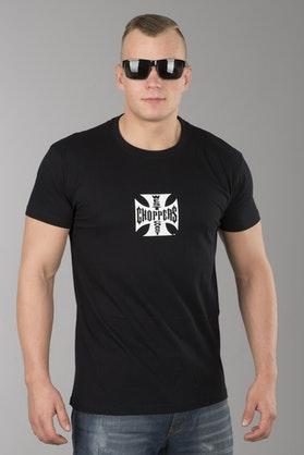 T-Shirt West Coast Choppers OG Cross Czarno-Biały