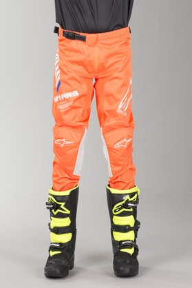 Alpinestars Racer Tech Kid's MX Pants Fluo Orange-White-Blue
