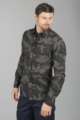 Brandit Slim Men Shirt - Dark Camo