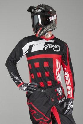 Bluza Cross JT Racing Flex Exbox Czarno-Czerwona