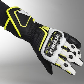 Dainese Carbon D1 Gloves Long Black-White-Yellow