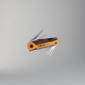 Komplet kluczy trzpieniowych sześciokątnych, chromowanych, w rękojeści Beta Tools