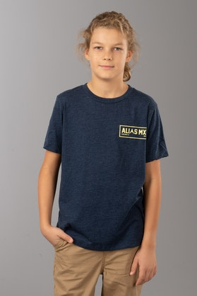 T-Shirt Alias Patch-2 Dziecięcy Ciemno-Marynarski