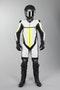 Kombinezon skórzany Długie IXS Thruxton Biały-Czarny-Żółty