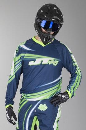 JT Racing Flex Flow Motocross Jersey Blue-Green-White
